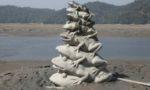 台湾日月譚の名物カエル像